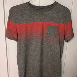 American Eagle Gray and Orange T Shirt